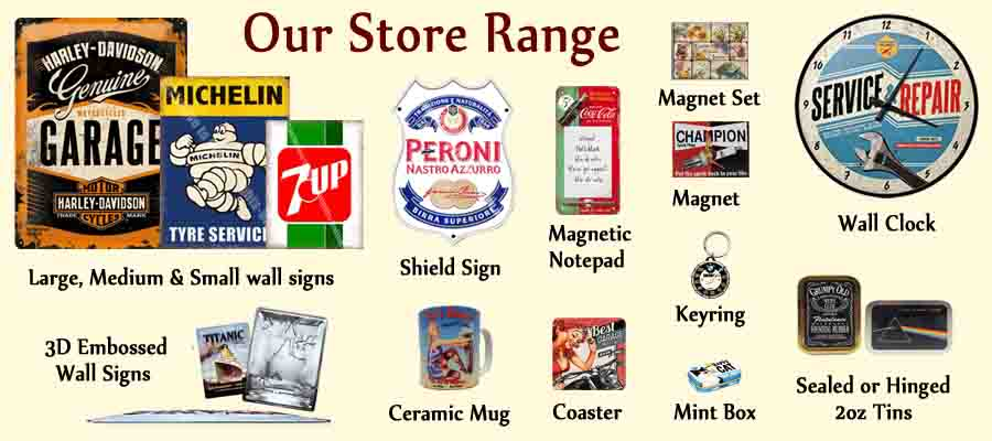 Vintage food 94 colman 39 s english mustard butcher shop for Vintage garage signs uk